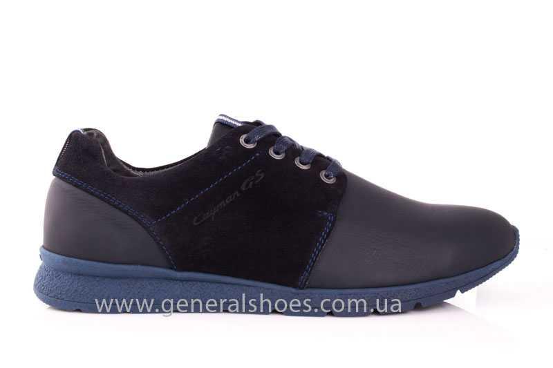 Мужские кожаные кроссовки GS RR blue фото 2