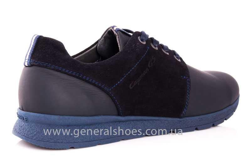 Мужские кожаные кроссовки GS RR blue фото 3