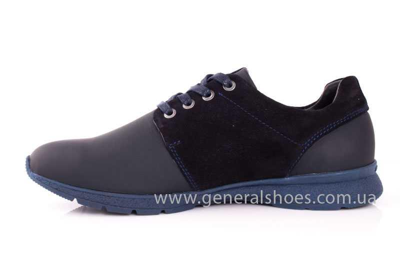 Мужские кожаные кроссовки GS RR blue фото 5