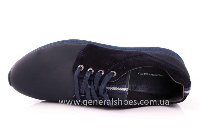 Мужские кожаные кроссовки GS RR blue фото 6