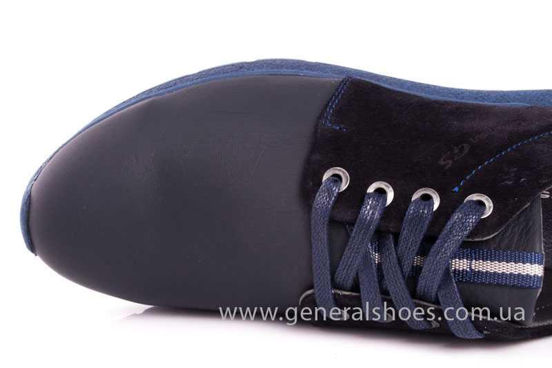 Мужские кожаные кроссовки GS RR blue фото 7