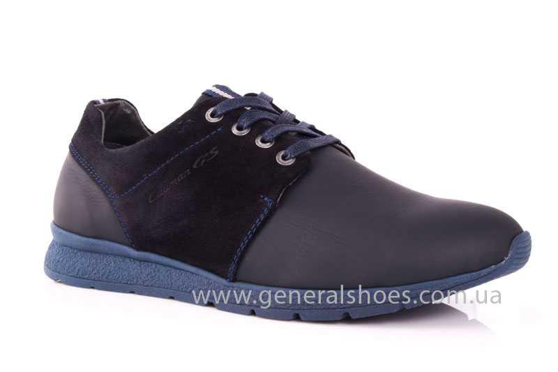Мужские кожаные кроссовки GS RR blue фото 1