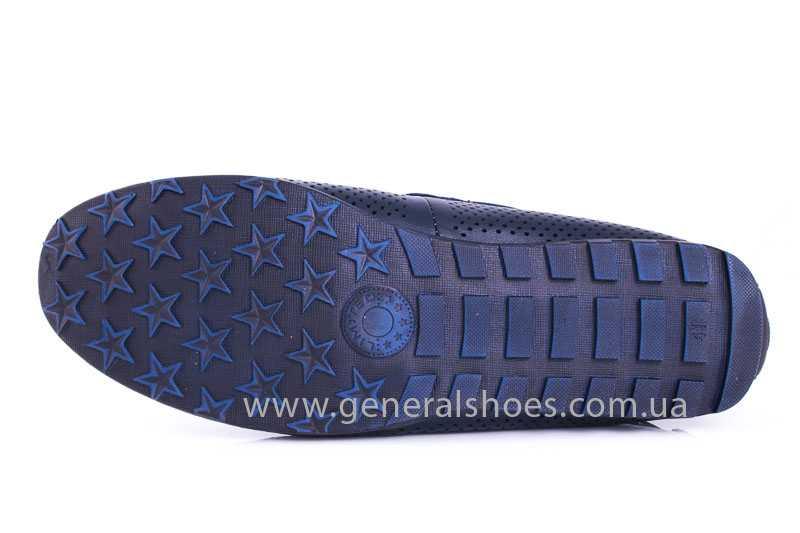 Мужские кожаные мокасины Esente 2243-843 blue фото 10