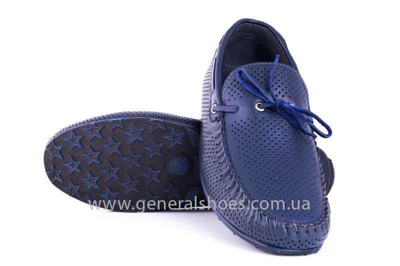 Мужские кожаные мокасины Esente 2243-843 blue фото 9