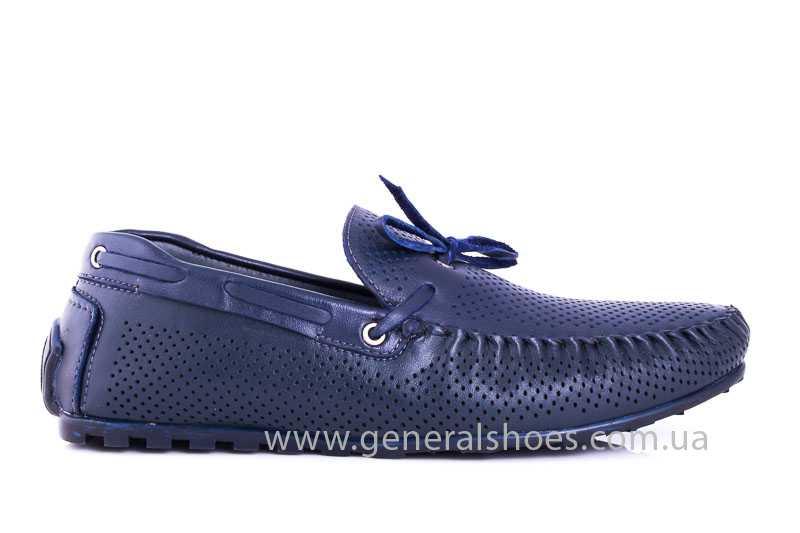 Мужские кожаные мокасины Esente 2243-843 blue фото 2