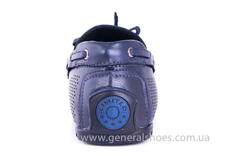 Мужские кожаные мокасины Esente 2243-843 blue фото 4