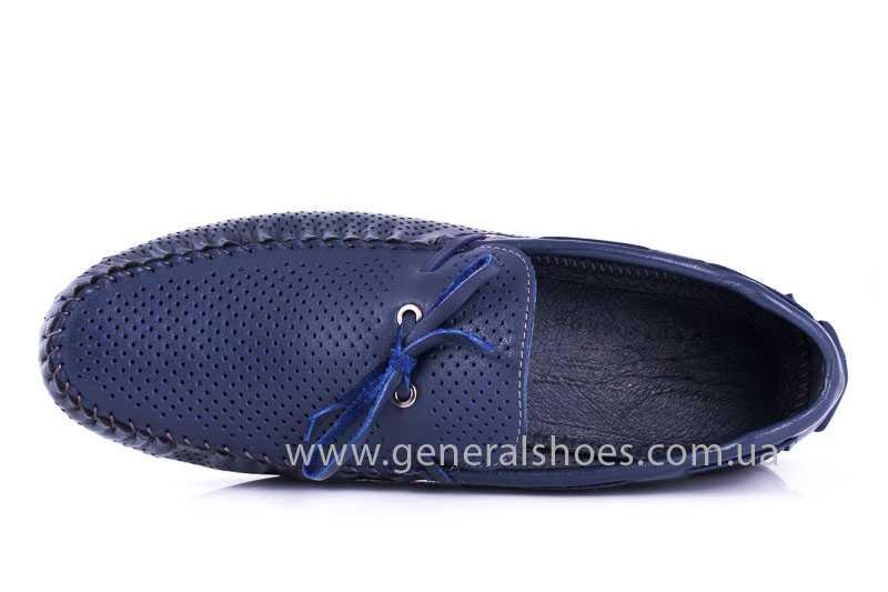 Мужские кожаные мокасины Esente 2243-843 blue фото 6
