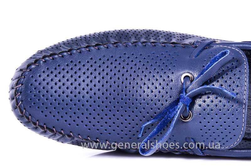 Мужские кожаные мокасины Esente 2243-843 blue фото 7