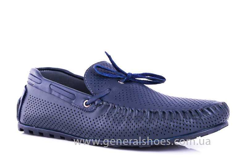 Мужские кожаные мокасины Esente 2243-843 blue фото 1