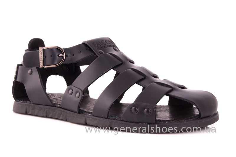 Мужские кожаные сандалии Falcon 9816 blk фото 1