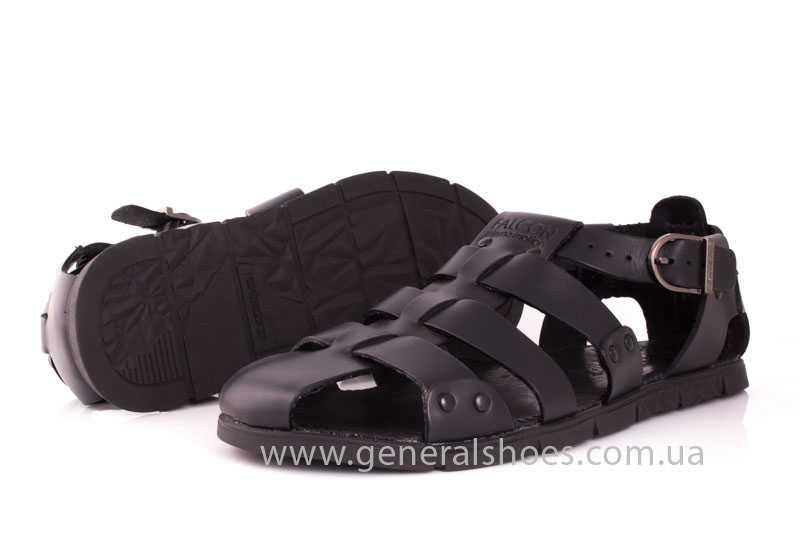 Мужские кожаные сандалии Falcon 9816 blk фото 10