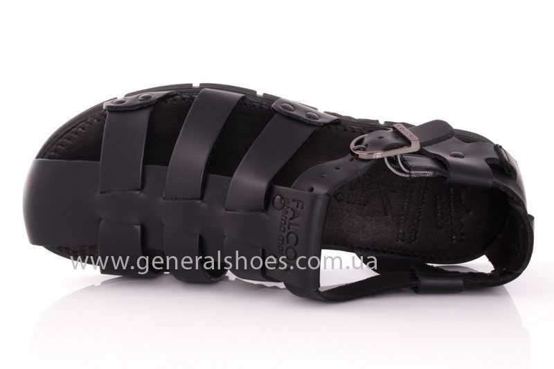 Мужские кожаные сандалии Falcon 9816 blk фото 6