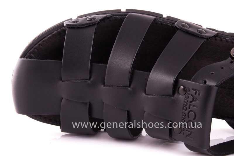 Мужские кожаные сандалии Falcon 9816 blk фото 7
