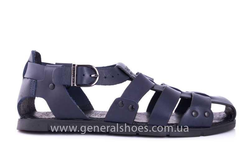 Мужские кожаные сандалии Falcon 9816 blue фото 2