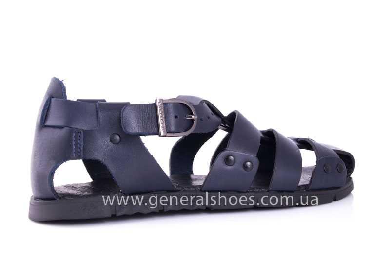 Мужские кожаные сандалии Falcon 9816 blue фото 3