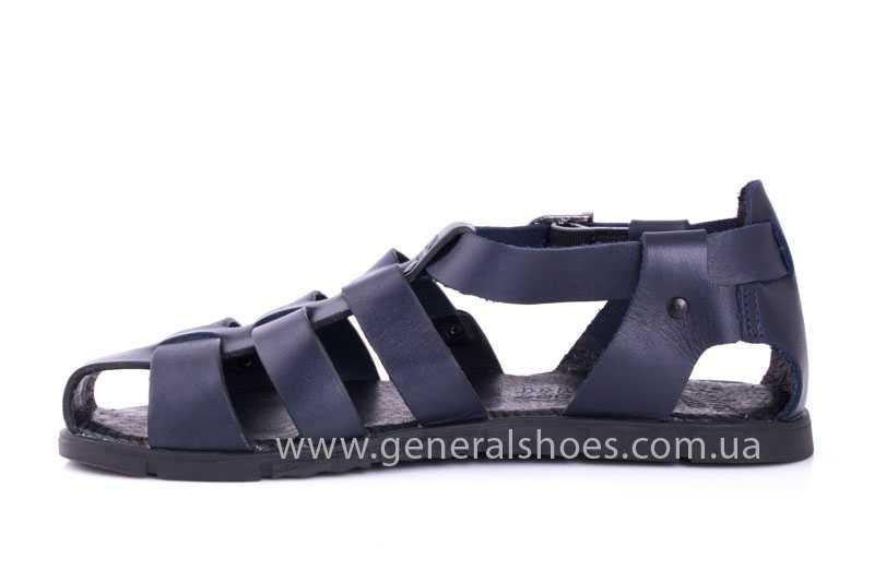 Мужские кожаные сандалии Falcon 9816 blue фото 5