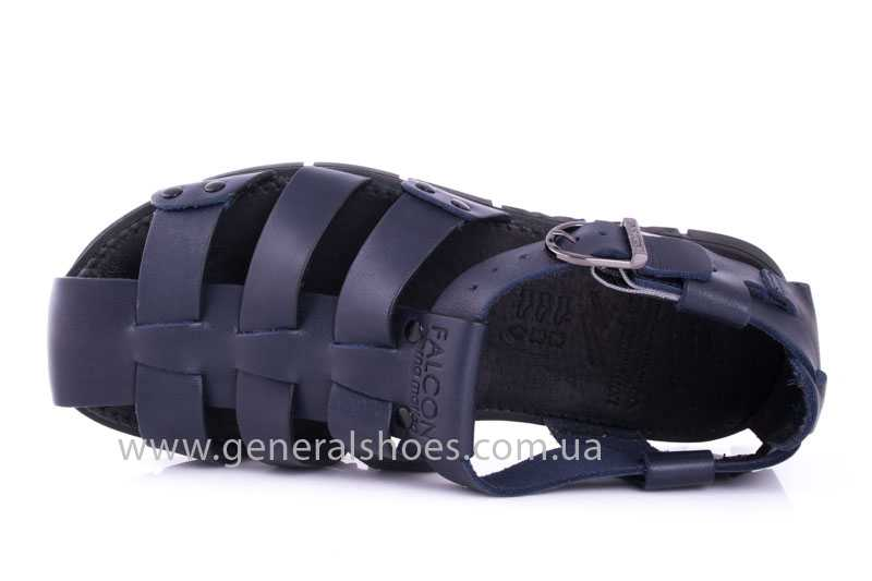 Мужские кожаные сандалии Falcon 9816 blue фото 6