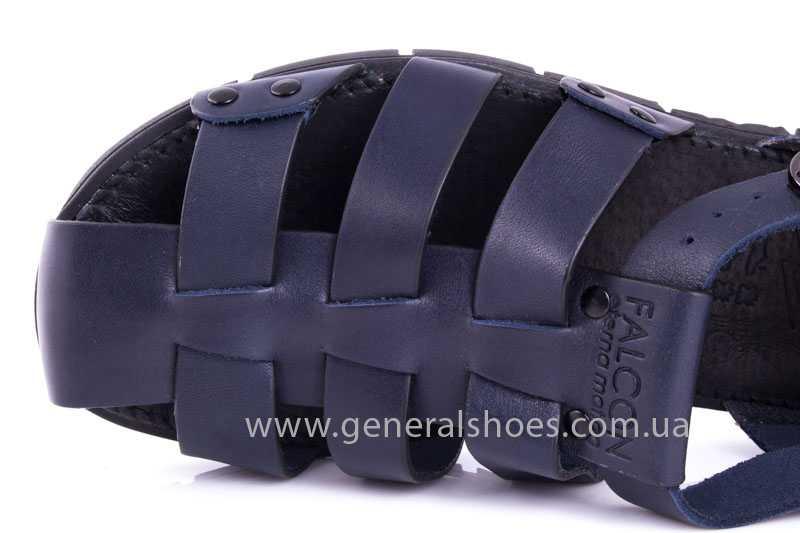 Мужские кожаные сандалии Falcon 9816 blue фото 7