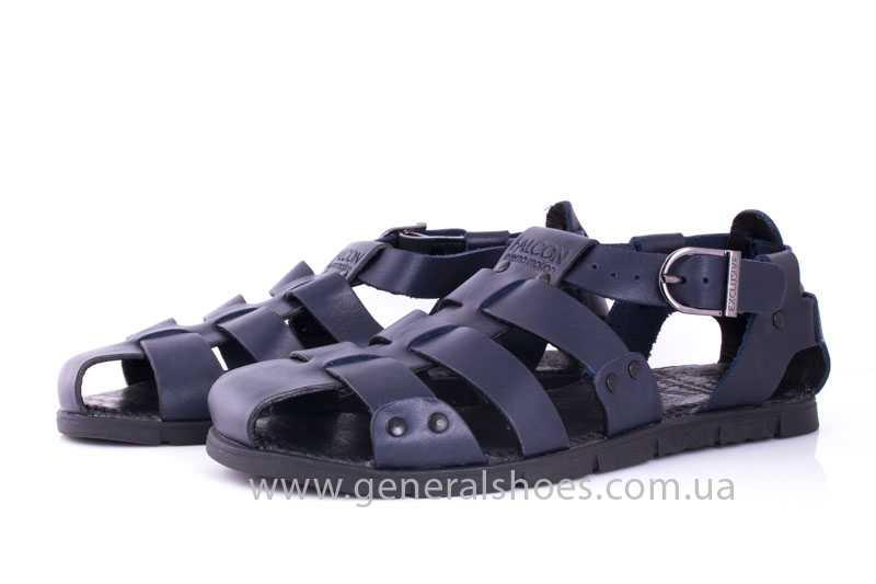 Мужские кожаные сандалии Falcon 9816 blue фото 8