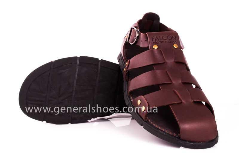 Мужские кожаные сандалии Falcon 9816 br фото 10