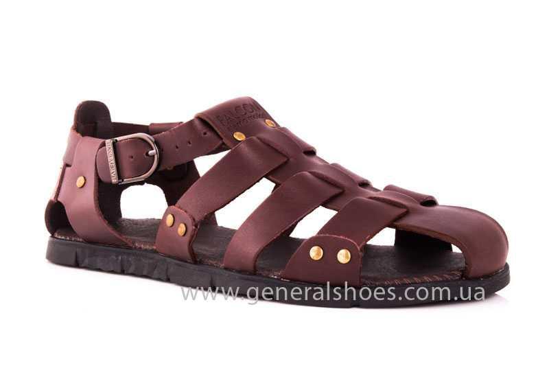 Мужские кожаные сандалии Falcon 9816 br фото 1