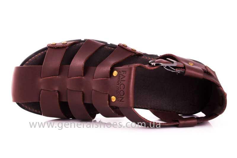 Мужские кожаные сандалии Falcon 9816 br фото 6