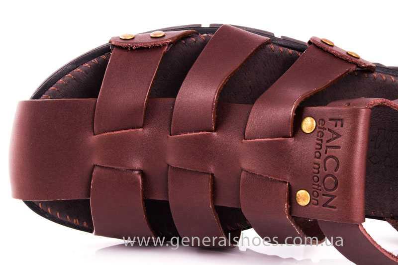Мужские кожаные сандалии Falcon 9816 br фото 7