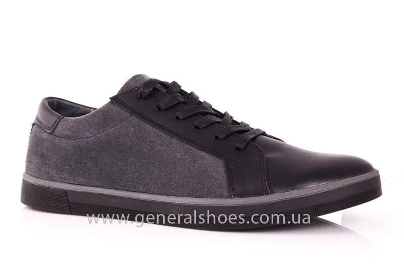 Мужские кожаные туфли GS 84 blk GRZ фото 1