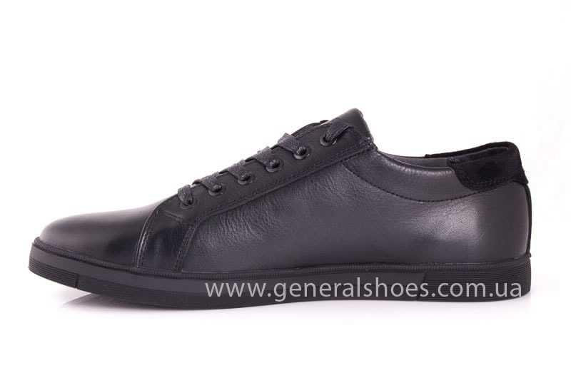 Мужские кожаные туфли GS 84 Timer blk. фото 5