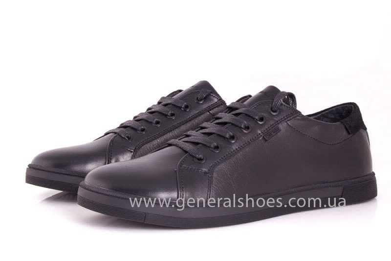Мужские кожаные туфли GS 84 Timer blk. фото 6