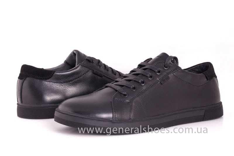 Мужские кожаные туфли GS 84 Timer blk. фото 7