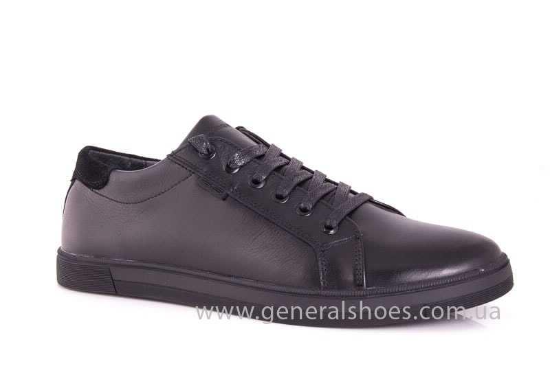 Мужские кожаные туфли GS 84 Timer blk. фото 1