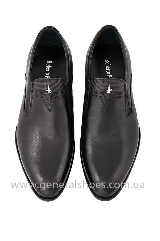 Мужские кожаные туфли Roberto Paulo 10645 blk фото 5
