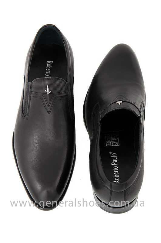 Мужские кожаные туфли Roberto Paulo 10645 blk фото 6