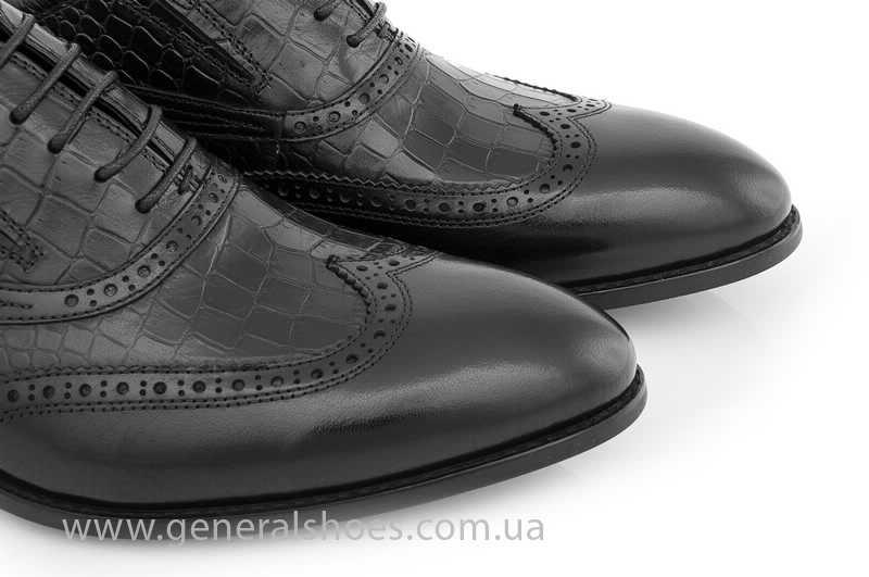 Мужские кожаные туфли Roberto Paulo 10814 blk фото 8