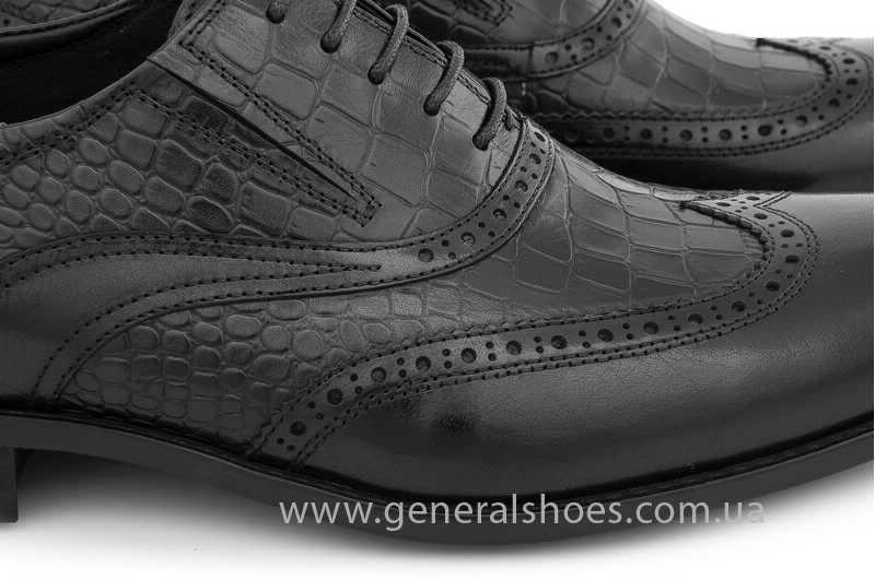 Мужские кожаные туфли Roberto Paulo 10814 blk фото 7