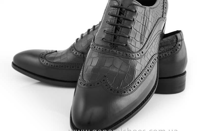 Мужские кожаные туфли Roberto Paulo 10814 blk фото 6