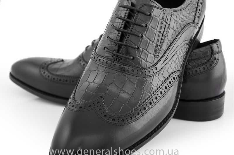 Мужские кожаные туфли Roberto Paulo 10814 blk фото 5