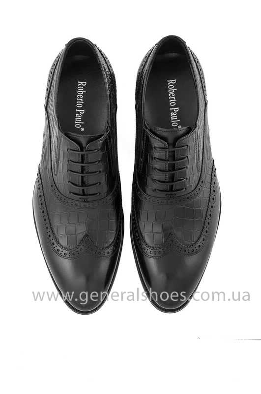 Мужские кожаные туфли Roberto Paulo 10814 blk фото 4