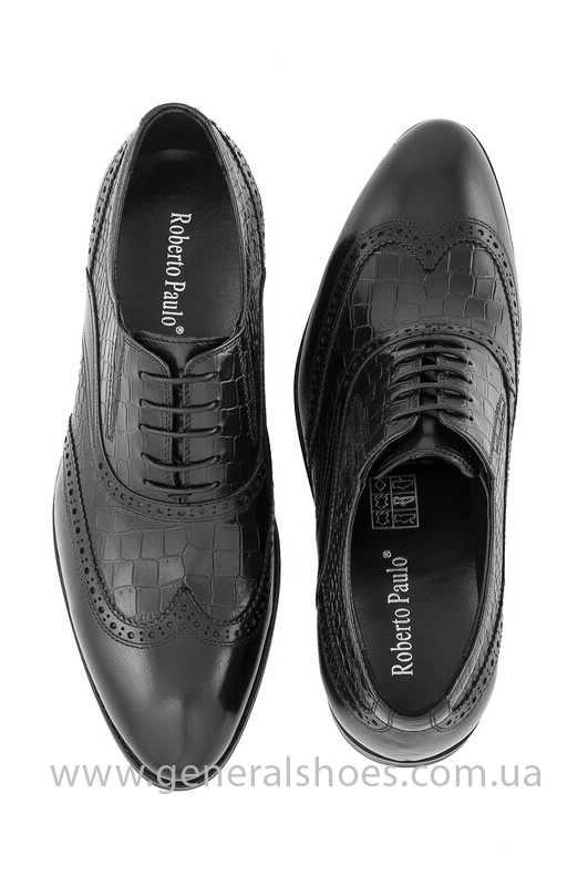 Мужские кожаные туфли Roberto Paulo 10814 blk фото 3