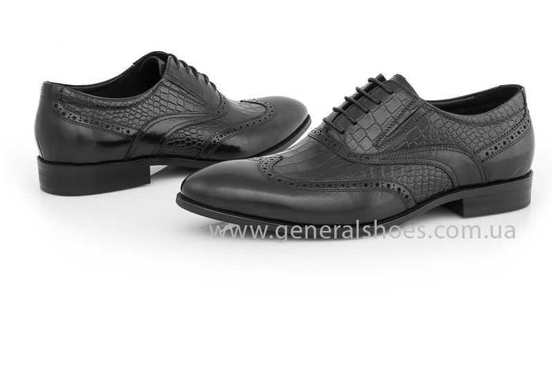 Мужские кожаные туфли Roberto Paulo 10814 blk фото 2