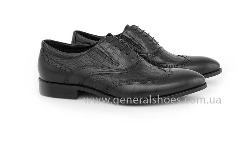 Мужские кожаные туфли Roberto Paulo 10814 blk фото 1
