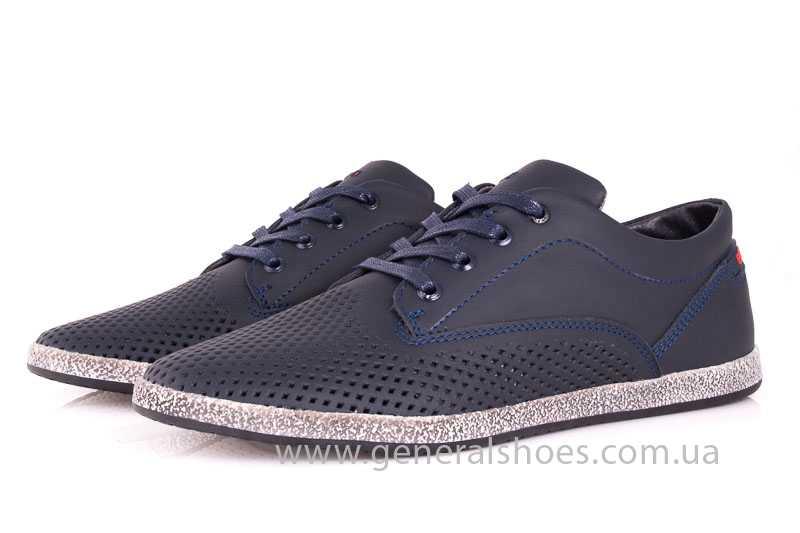 Мужские кожаные туфли GS B 44 P Shanghai blue фото 7