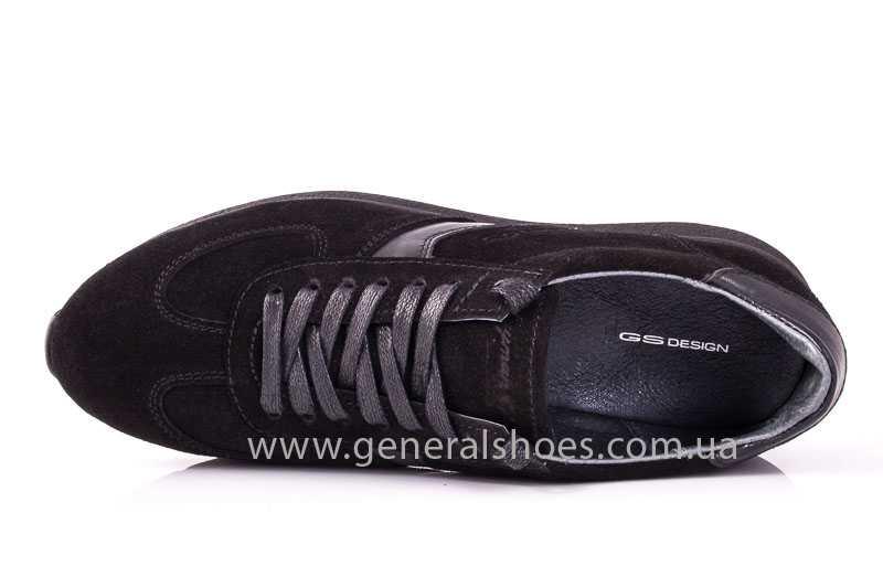 Мужские замшевые кроссовки GS D1 blk Z фото 6