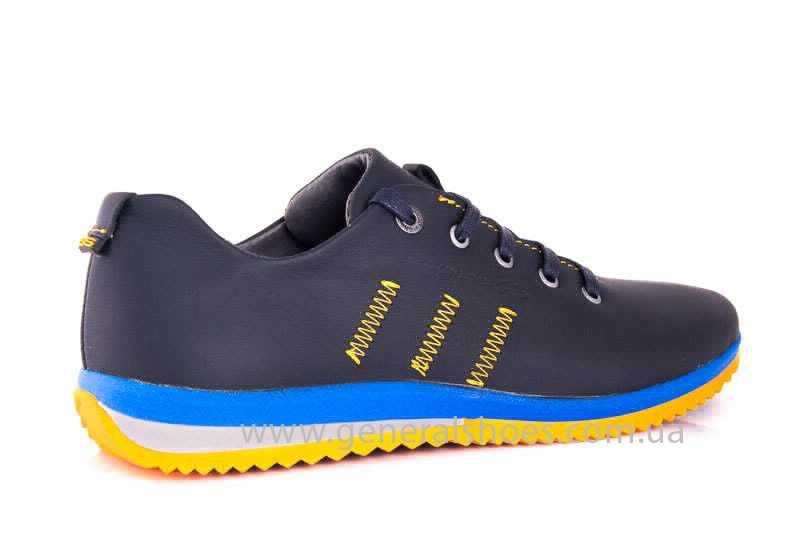 Подростковые кожаные кроссовки GS JUNIOR 10 ZIDAN bl. фото 3