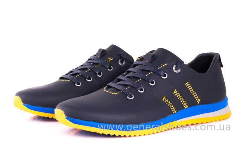Подростковые кожаные кроссовки GS JUNIOR 10 ZIDAN bl. фото 6