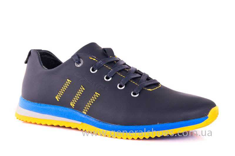 Подростковые кожаные кроссовки GS JUNIOR 10 ZIDAN bl. фото 1
