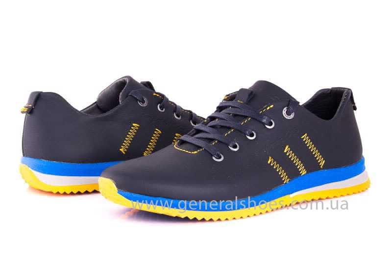 Подростковые кожаные кроссовки GS JUNIOR 10 ZIDAN bl. фото 7