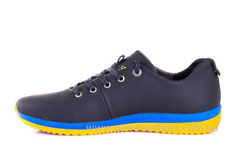 Подростковые кожаные кроссовки GS JUNIOR 10 ZIDAN bl. фото 5