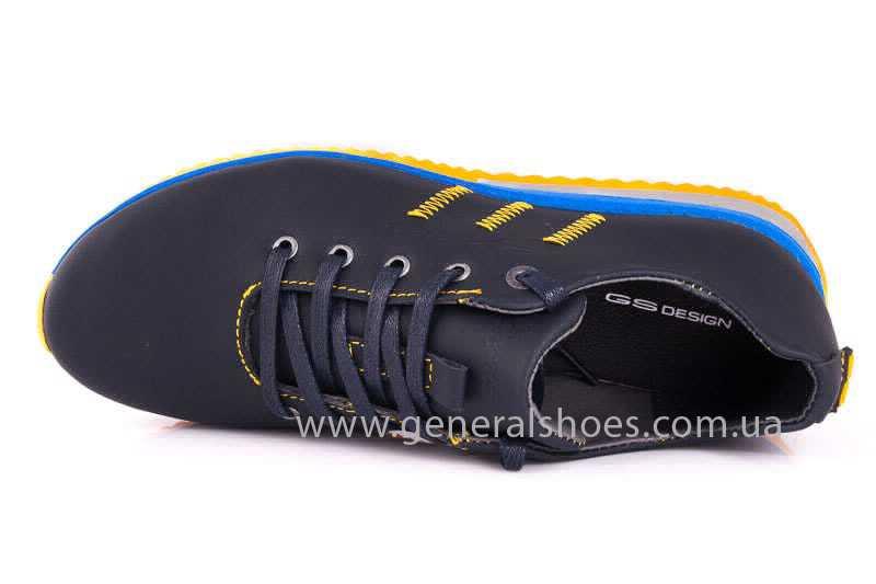Подростковые кожаные кроссовки GS JUNIOR 10 ZIDAN bl. фото 8